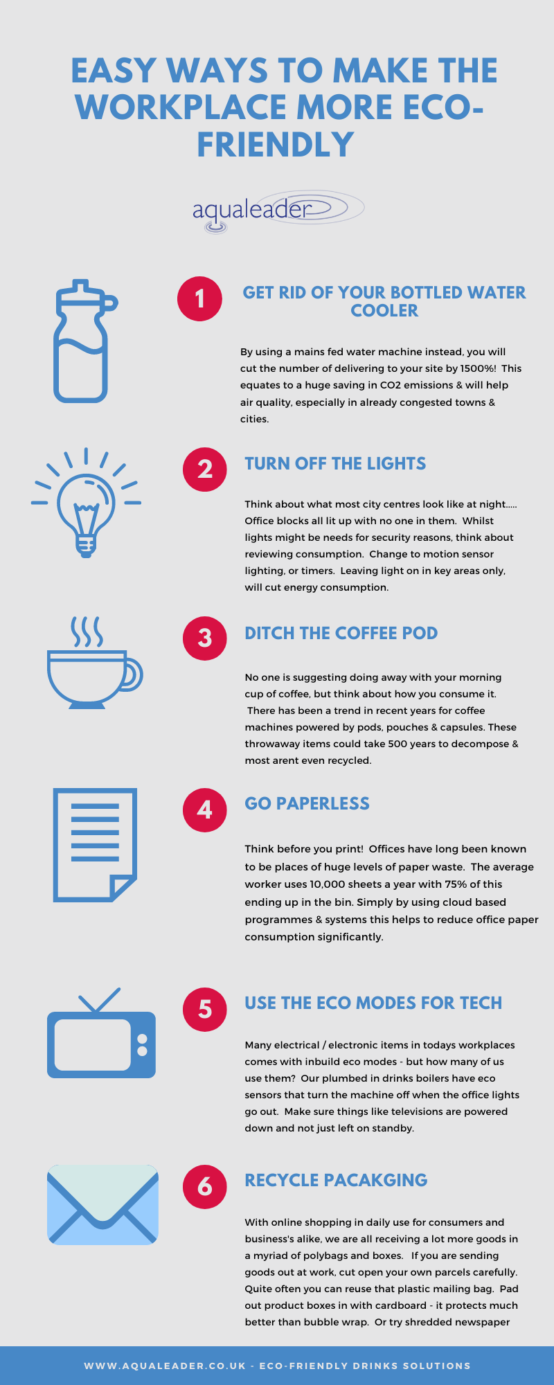 Easy ways to make your workplace eco friendly - INFOGRAPHIC