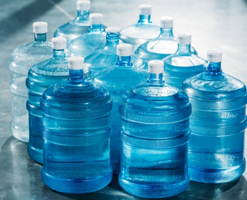 How many water miles does your organisation clock up each month with bottled water